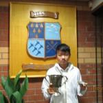 2015年 ラスリーゴルフクラブのクラブチャンピオンになりました。